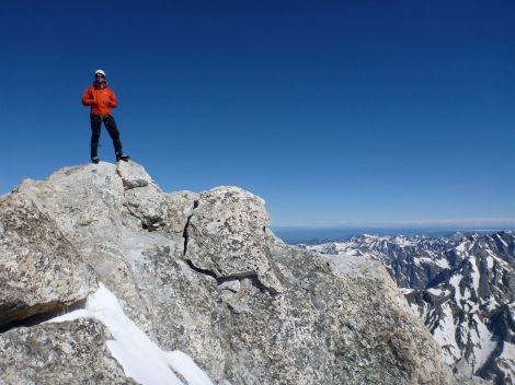Standing up on the true summit of Mt. Owen