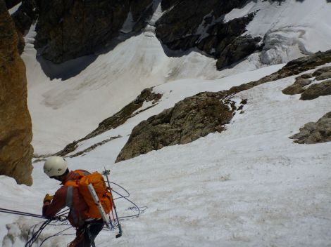 Descending the upper Koven Route of Mt. Owen
