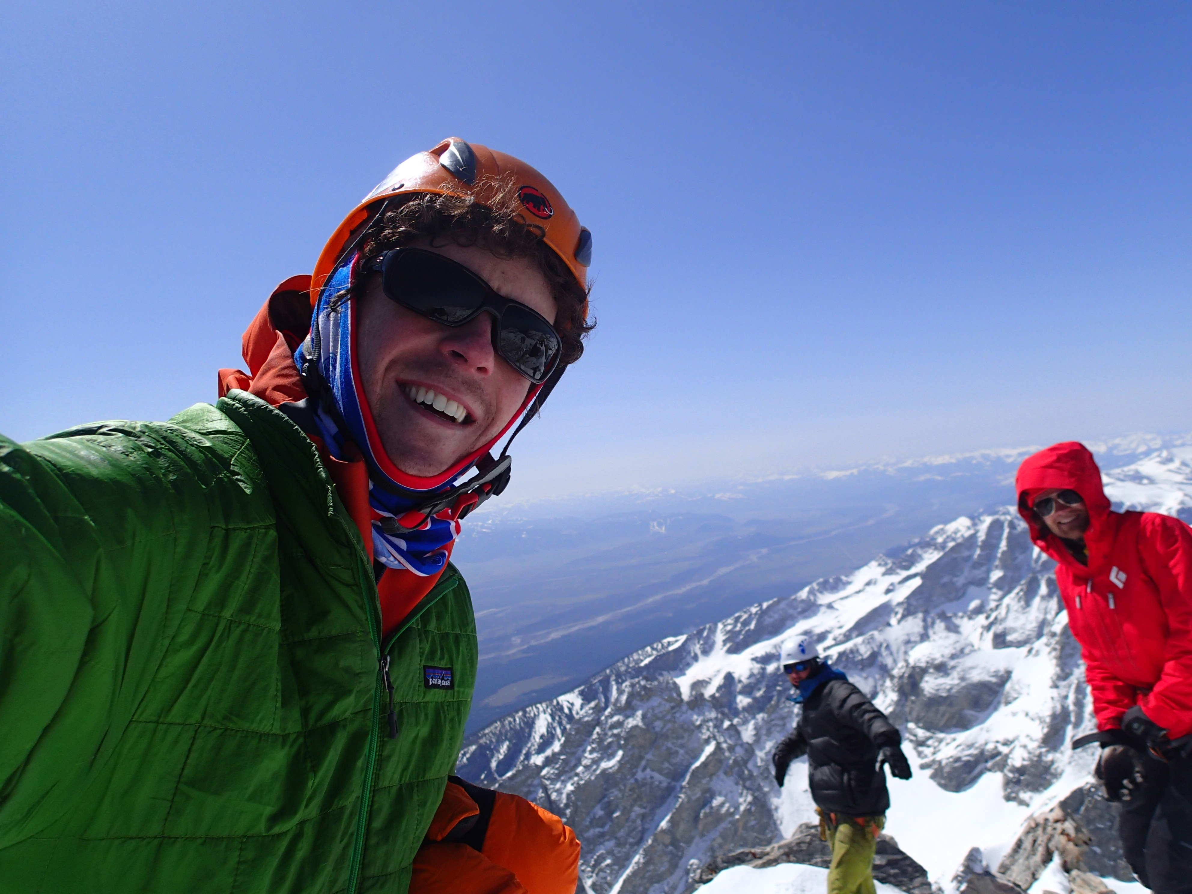 Selfie from the Grand Teton summit in winter